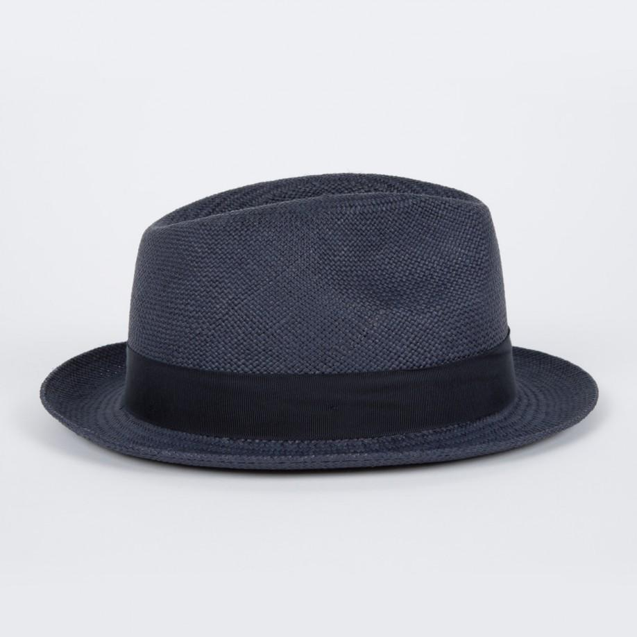 ab86e9bd Paul Smith Christys' Navy Straw Panama Trilby Hat in Blue for Men - Lyst