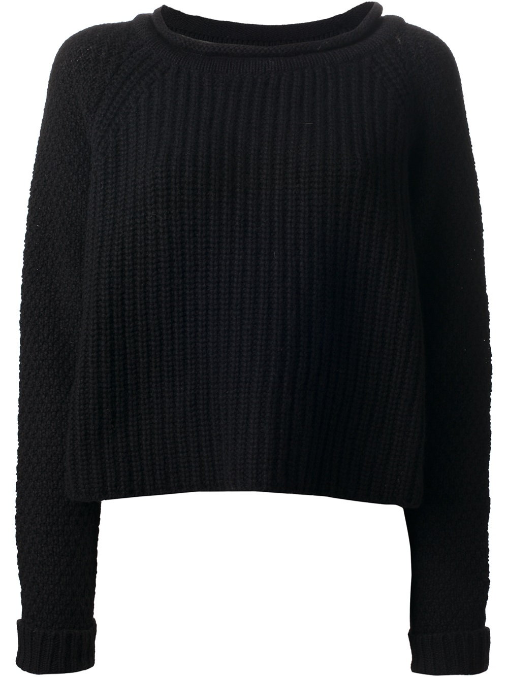 Jo no fui Chunky Knit Sweater in Black | Lyst