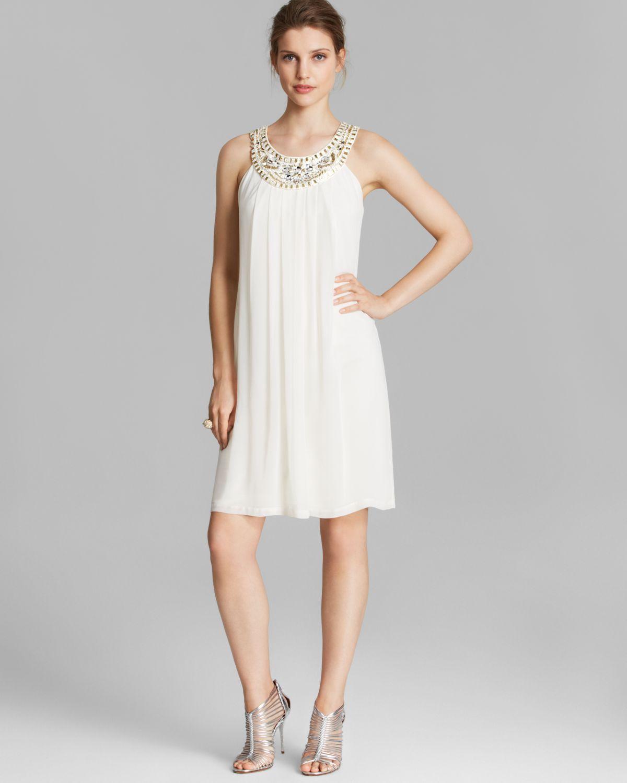 1a9ddb3235da5 Lyst Sue Wong Dress Sleeveless A Line Shift In White