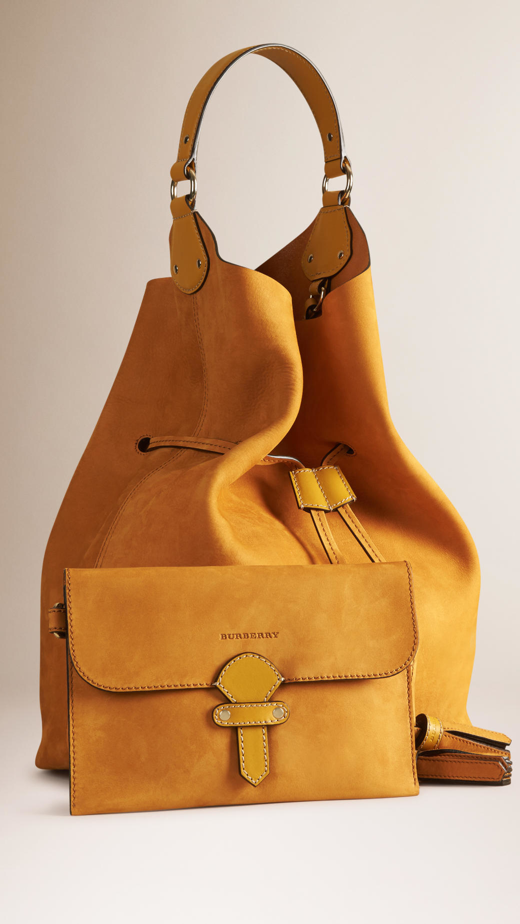 46ce2a42be5b Burberry The Large Ashby Leather Bag in Metallic Lyst. Burberry The Large  Ashby. Burberry Medium Ashby Bucket Bag Handbags BUR67372