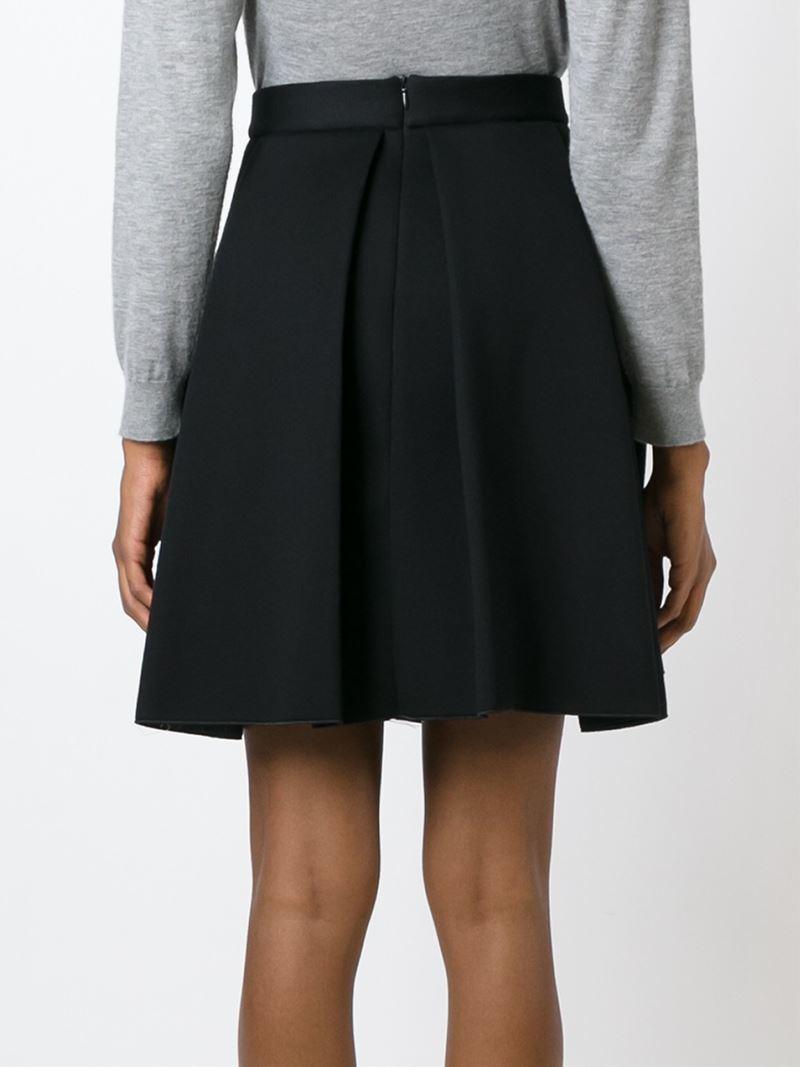 P.a.r.o.s.h. Pleated A-line Skirt in Black | Lyst