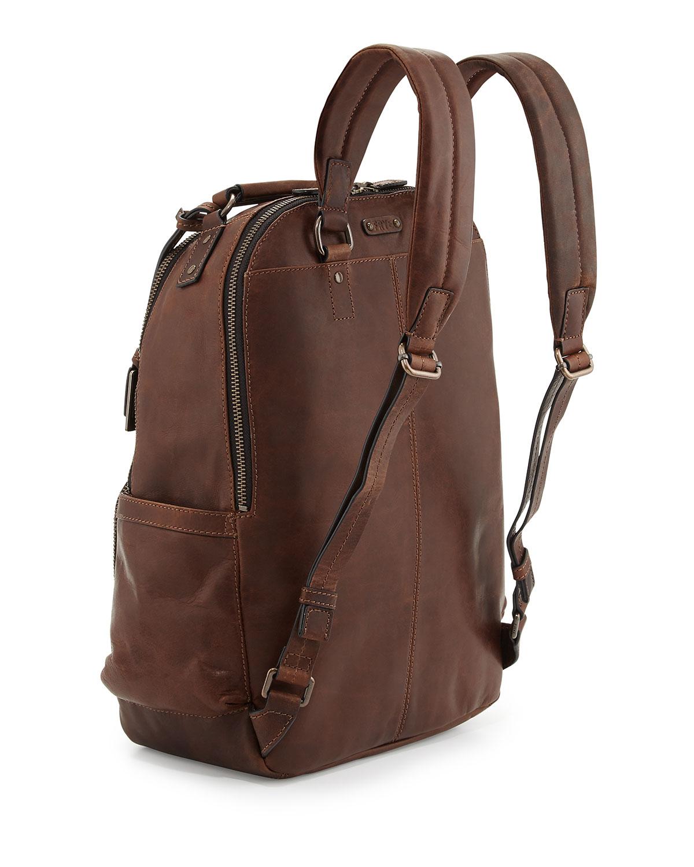 Lyst - Frye Logan Leather Backpack Dark Brown in Brown for Men