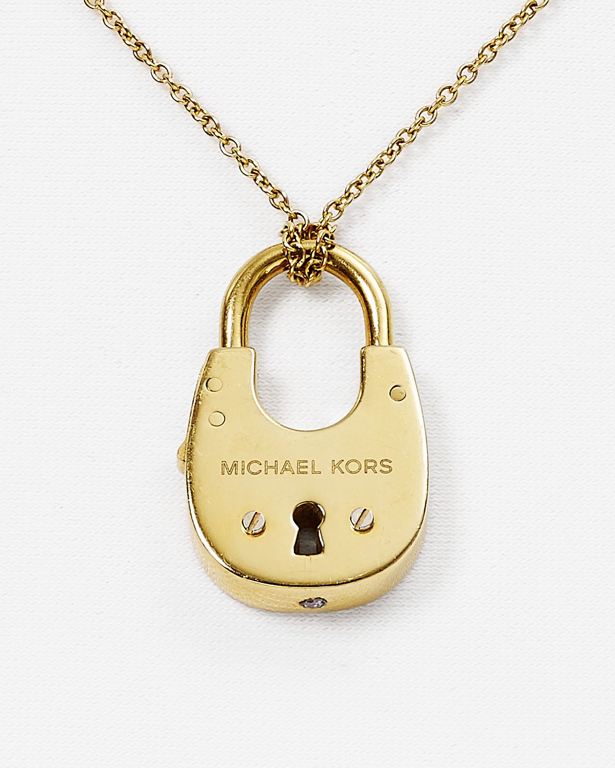 d79a5e646d5fc Gallery. Previously sold at  Bloomingdale s · Women s Padlock Necklaces  Women s Michael Kors Pendant ...