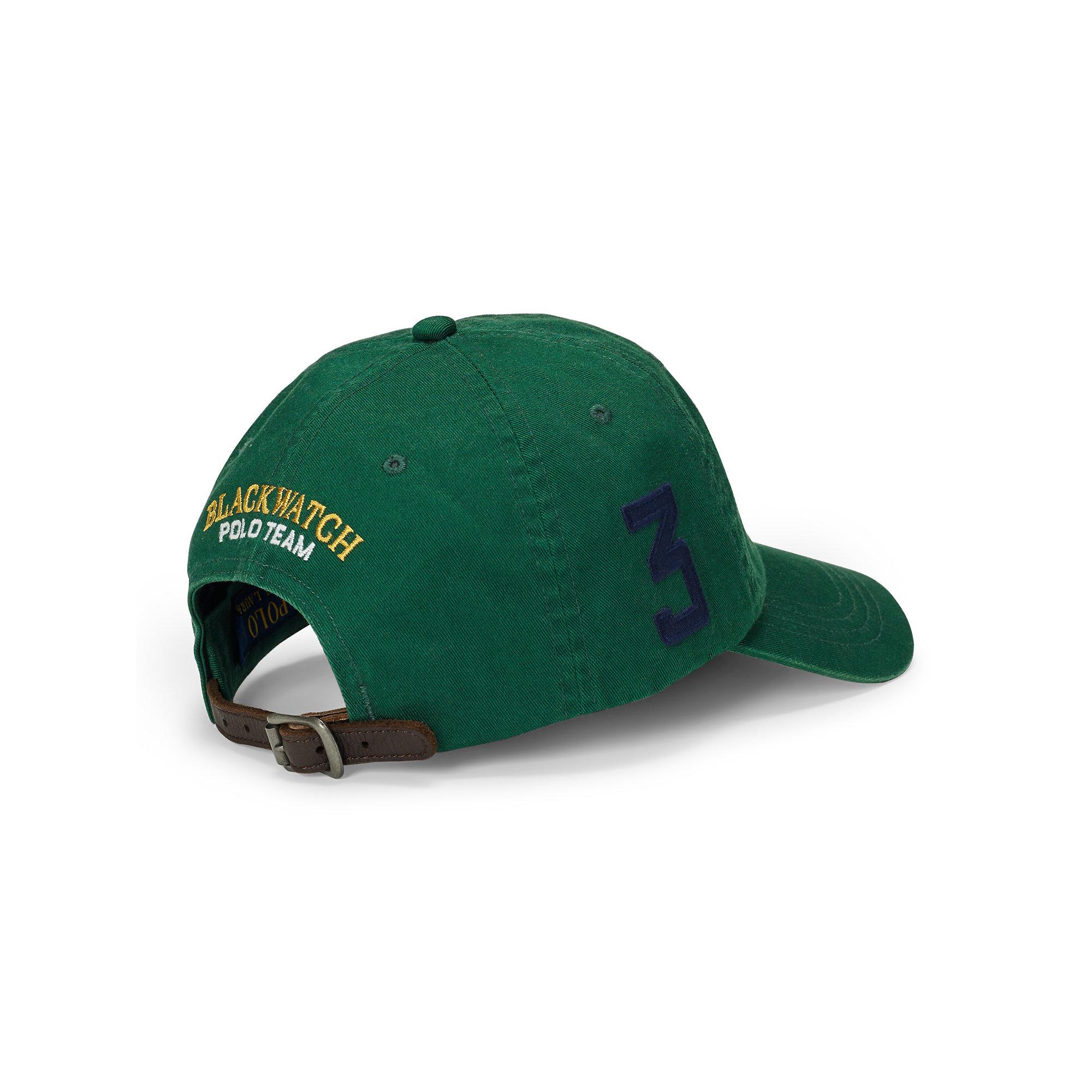Polo Ralph Lauren Blackwatch Cotton Baseball Cap In Green