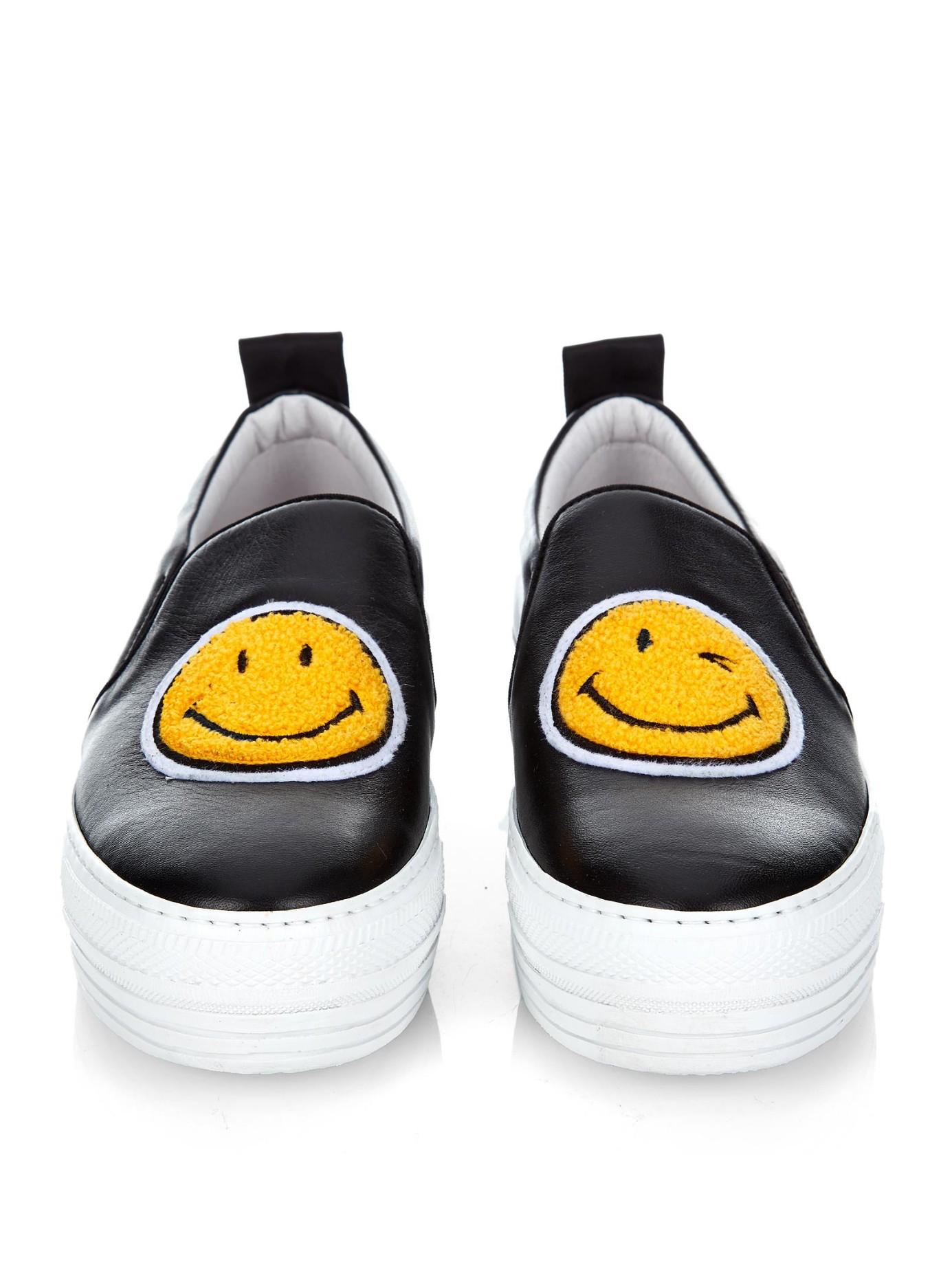 JOSHUA SANDERS Smiley face slip on sneakers 1GBWeM