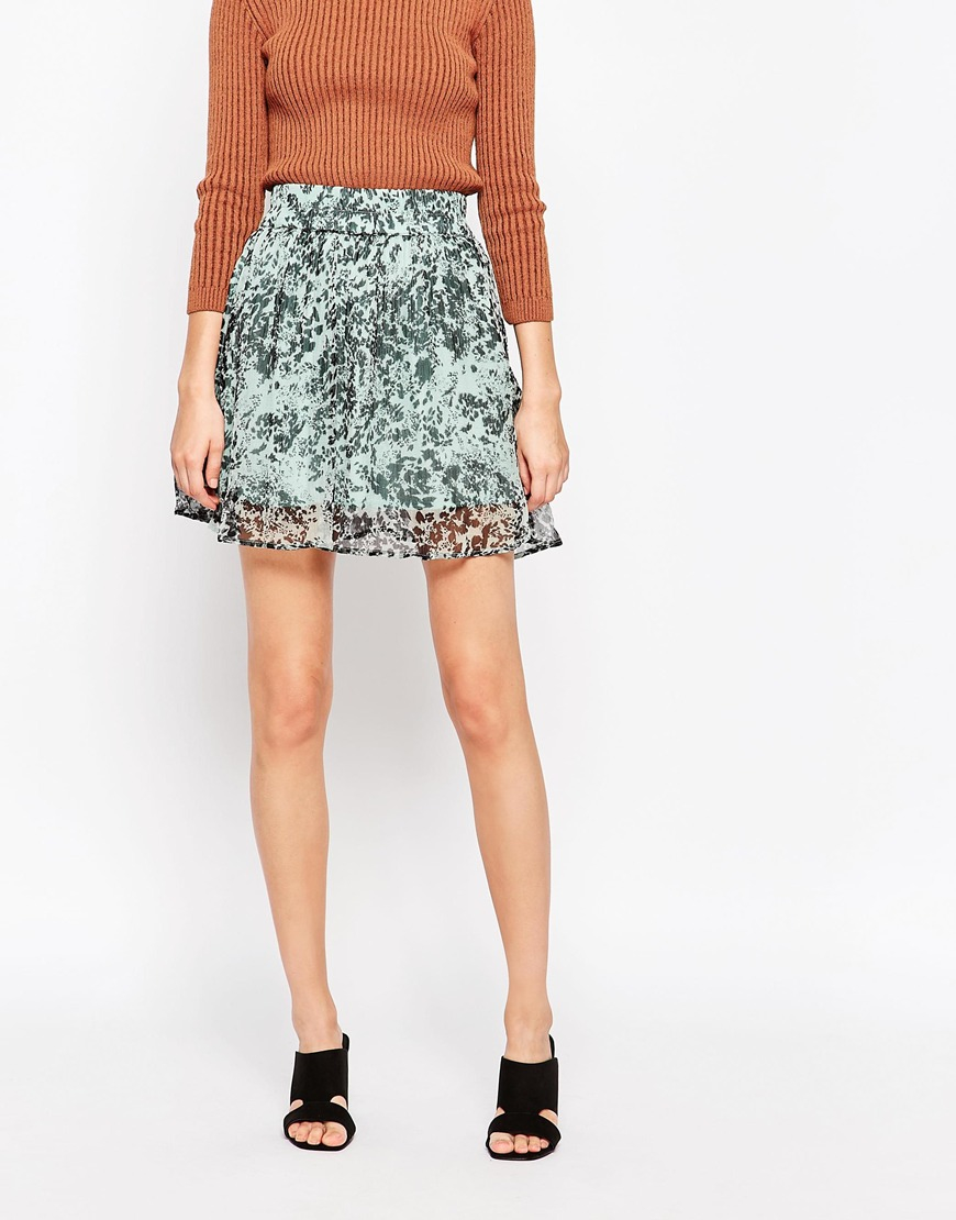 b0081829755 Ganni Field Flower Skirt in Green - Lyst