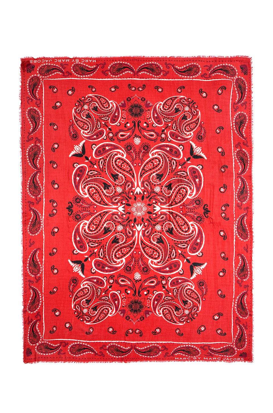 Lyst - Marc By Marc Jacobs William Paisley Scarf in Red 1ab876f008d