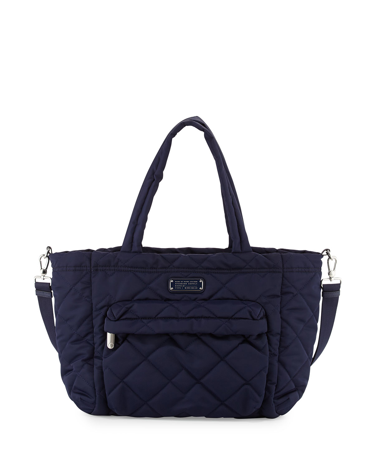 marc by marc jacobs crosby quilted diaper bag in blue lyst. Black Bedroom Furniture Sets. Home Design Ideas