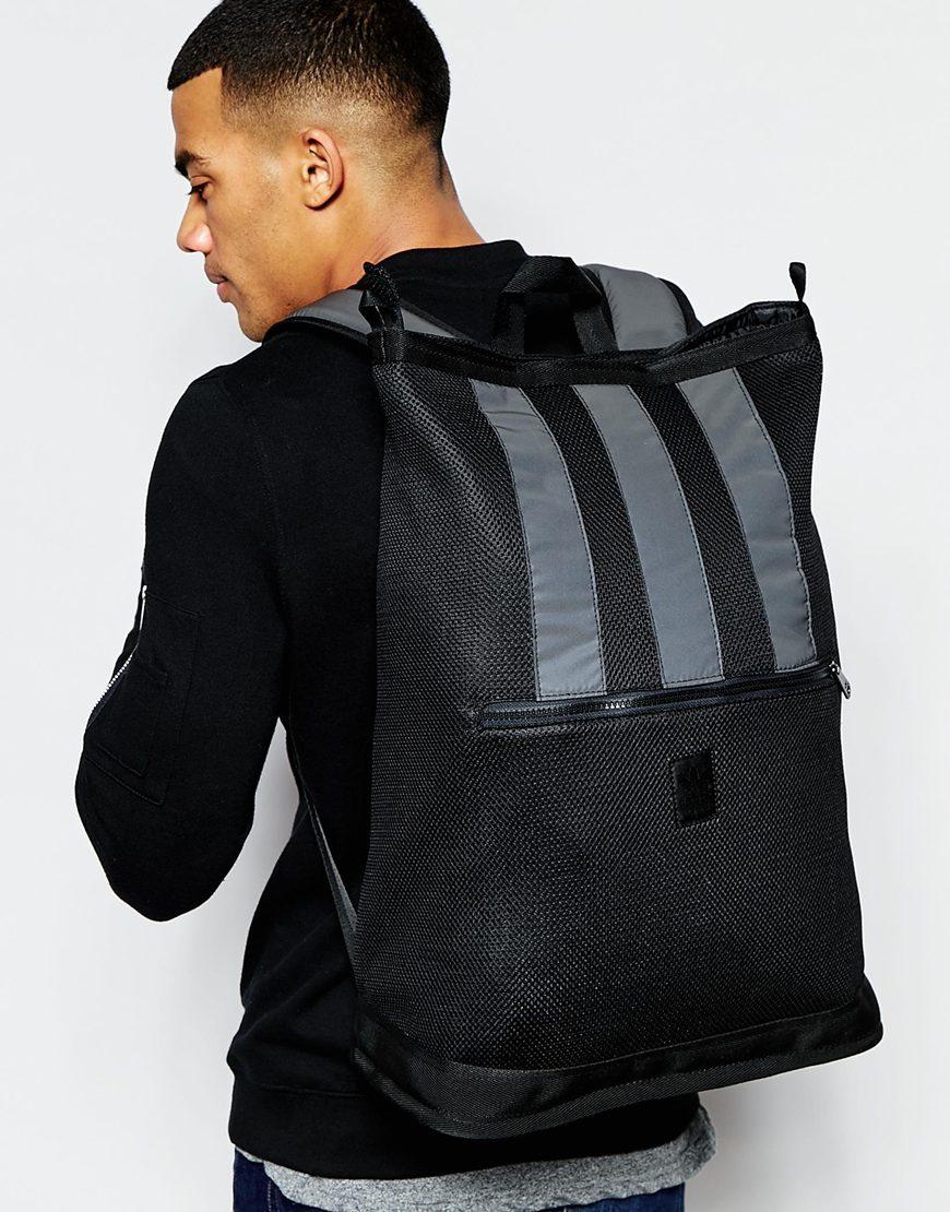 5a78ea34ca6d Lyst - adidas Originals Futura Backpack in Black for Men