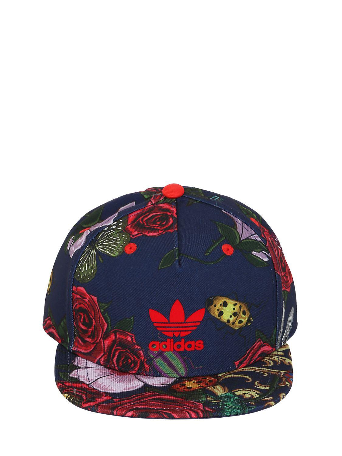 ... flower cap new concept 702c3 8c4cd good adidas originals floral printed  baseball hat in blue lyst babdf 89726 ... e75ae3e84e19
