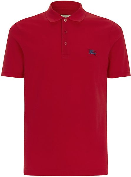Burberry Brit Metal Logo Polo Shirt In Red For Men Lyst