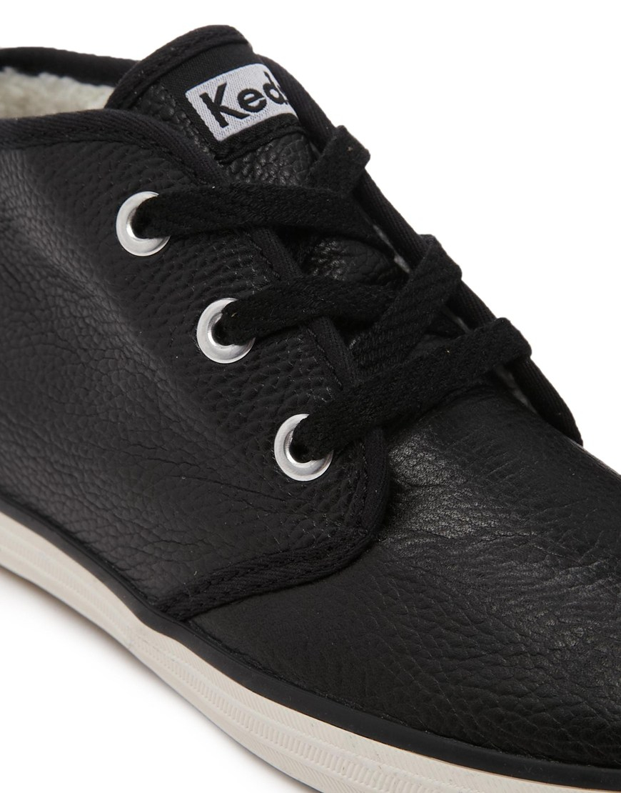 keds black leather zip