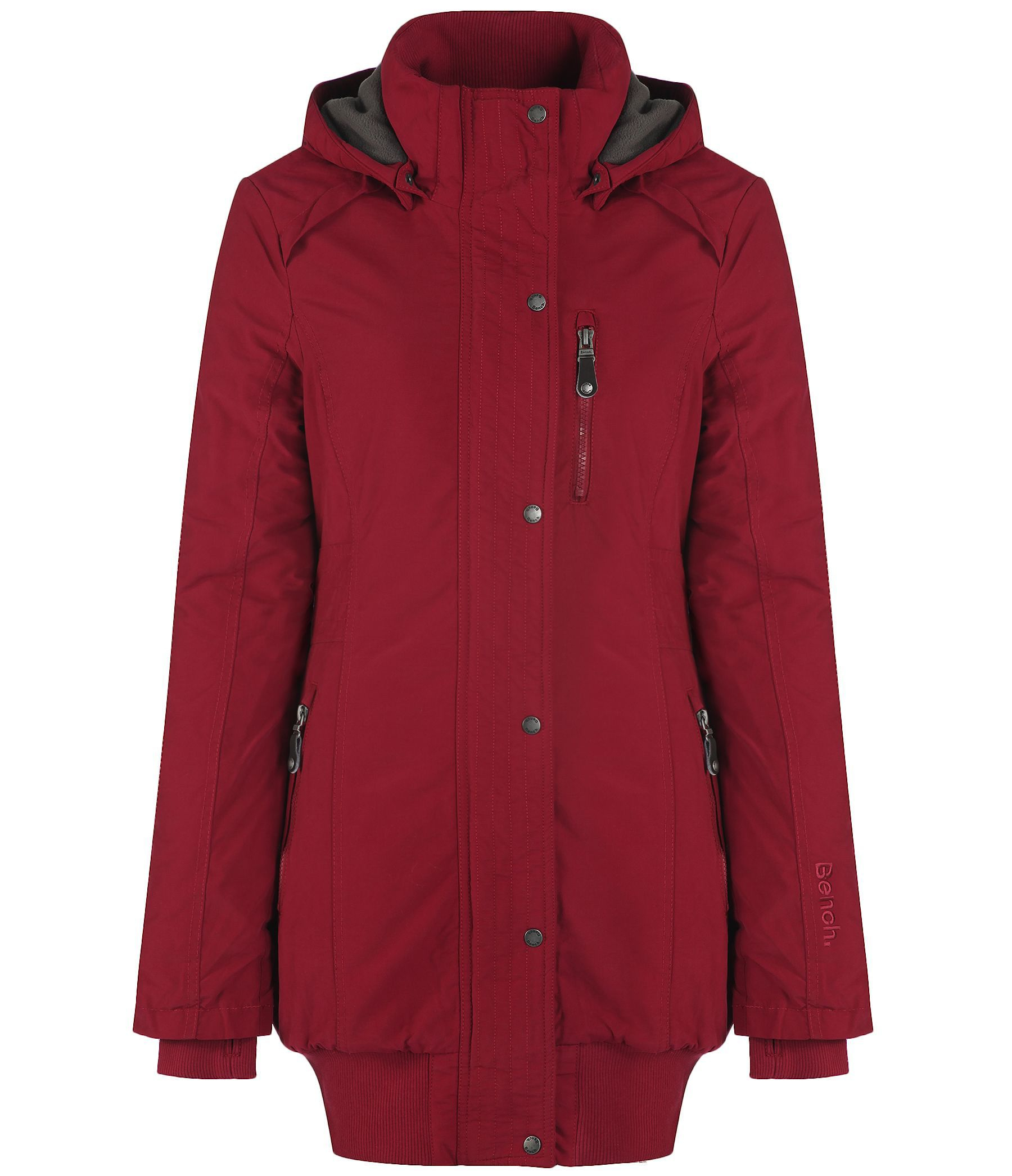 Bench razzer ii hooded parka jacket in red lyst Bench jacket