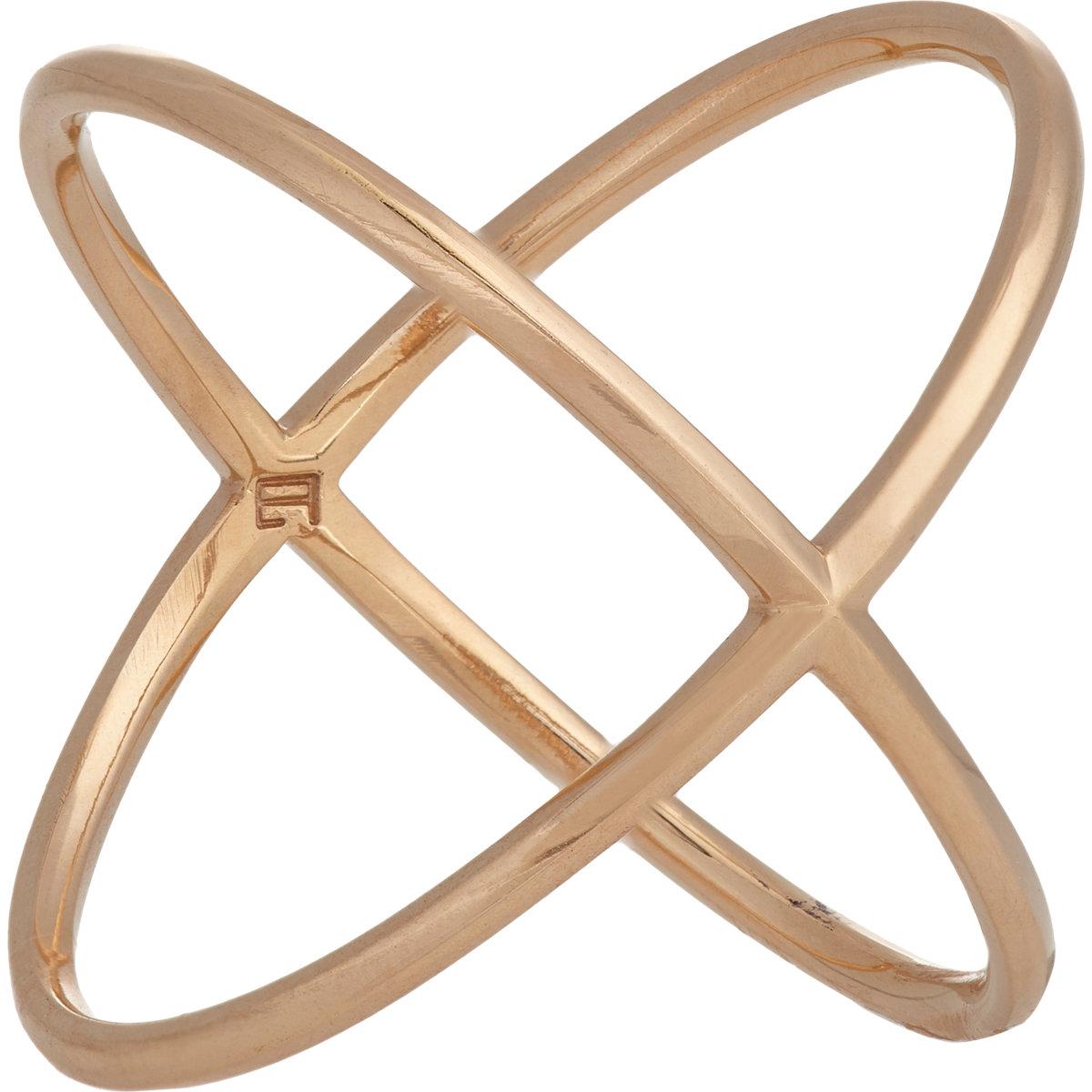 fehren s x ring in gold lyst