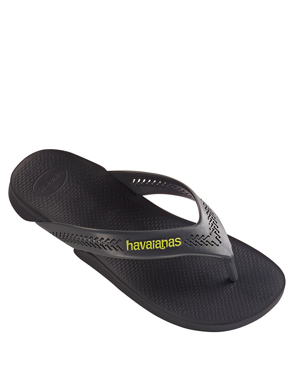 3ecbb9dc84b Havaianas Wide Rubber Thong Sandals in Black for Men - Lyst
