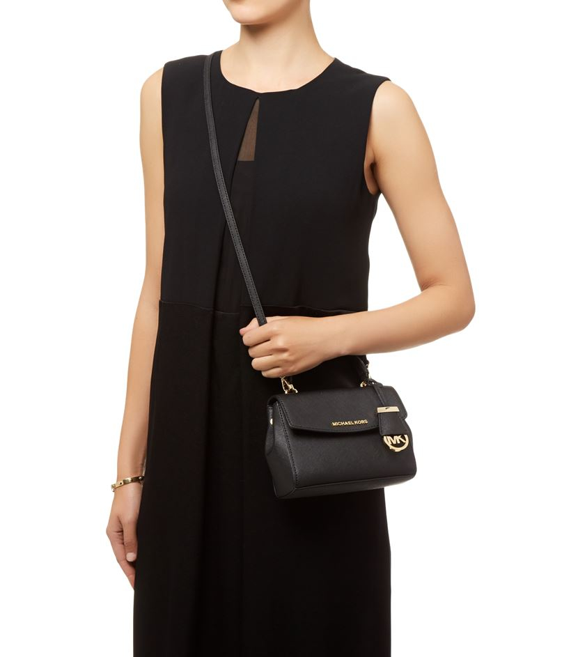 d1222d9be8e8a1 MICHAEL Michael Kors Ava Cross Body Bag in Black - Lyst