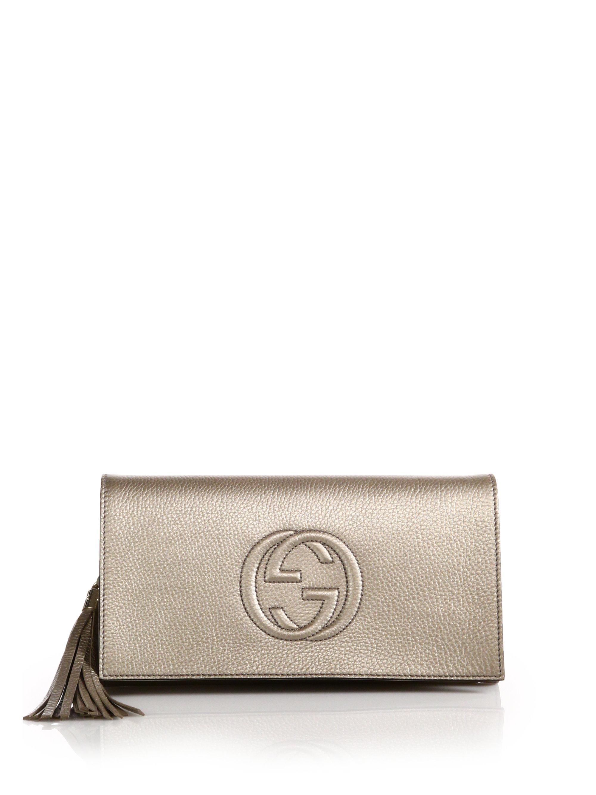 3a7e7e3c6eb Gallery. Previously sold at  Saks Fifth Avenue · Women s Metallic Clutch  Bags Women s Gucci Soho Bag