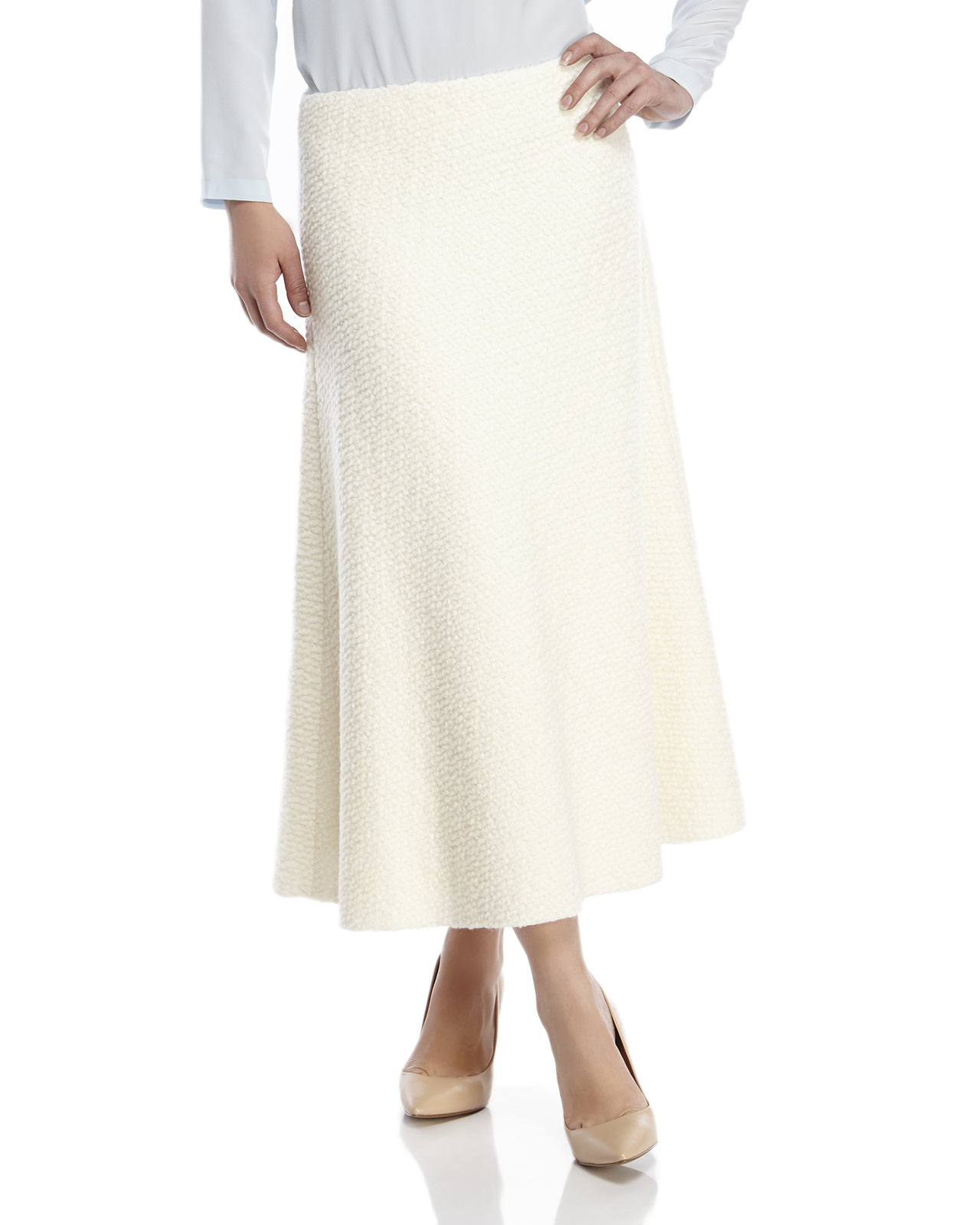 arrives big discount of 2019 vast selection Raoul Ivory Amelia Midi Skirt in White - Lyst
