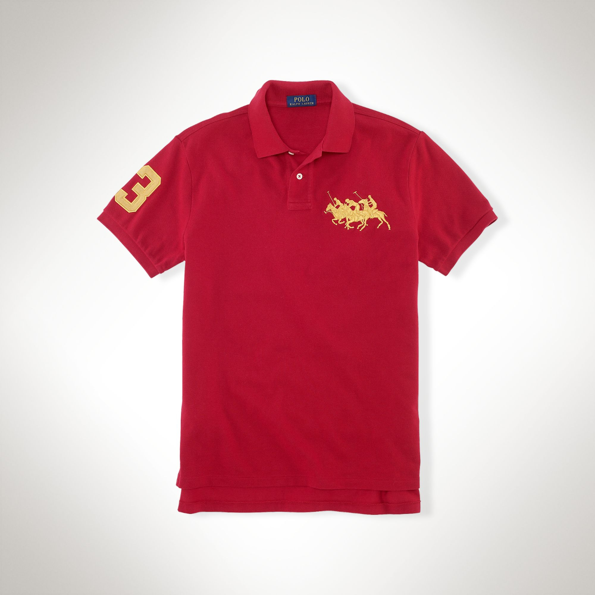 1cbeaa7a ... discount polo ralph lauren custom fit triple pony polo in red for men  lyst c6019 b300e