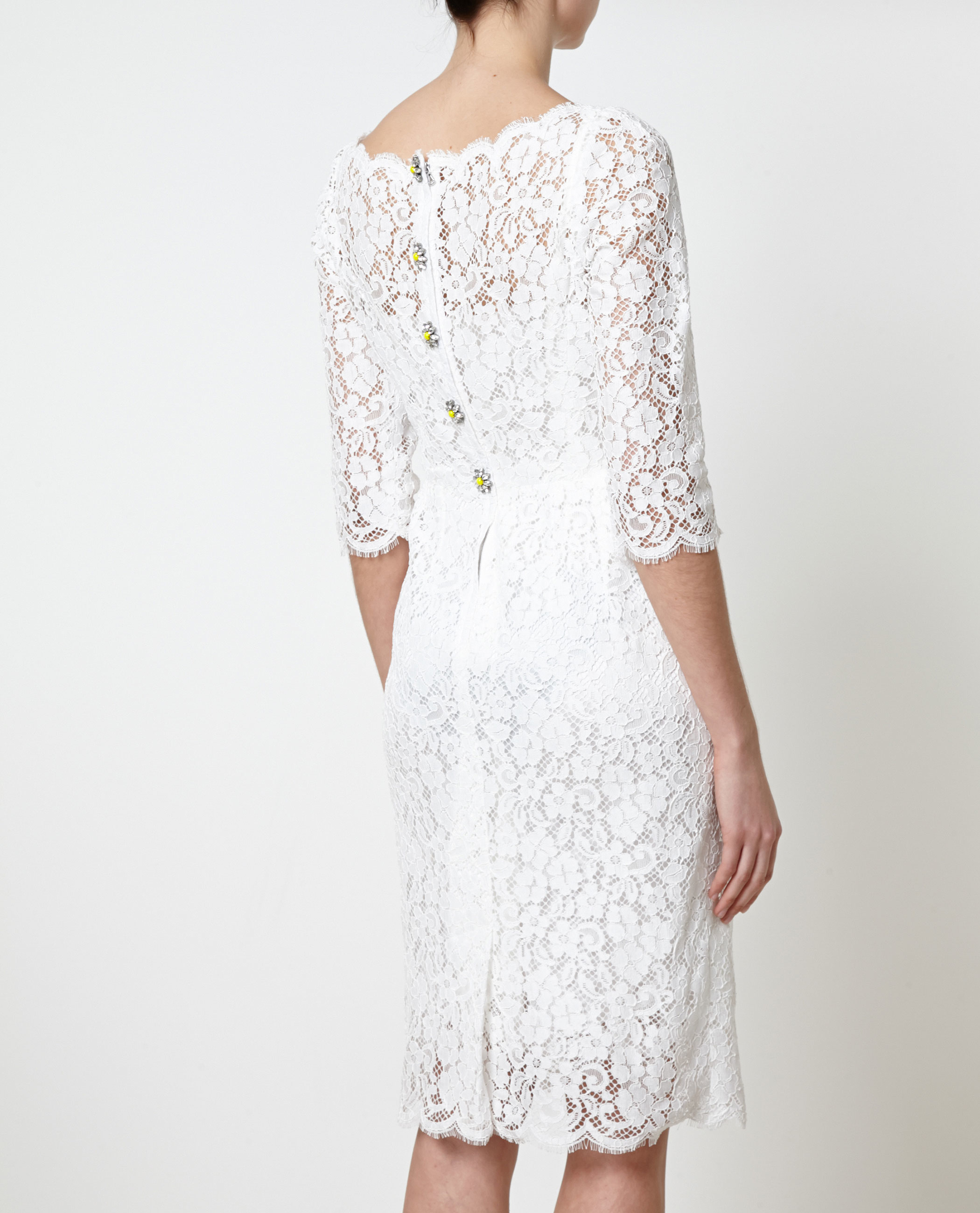 2019 year for girls- Gabbana and Dolce white lace dress