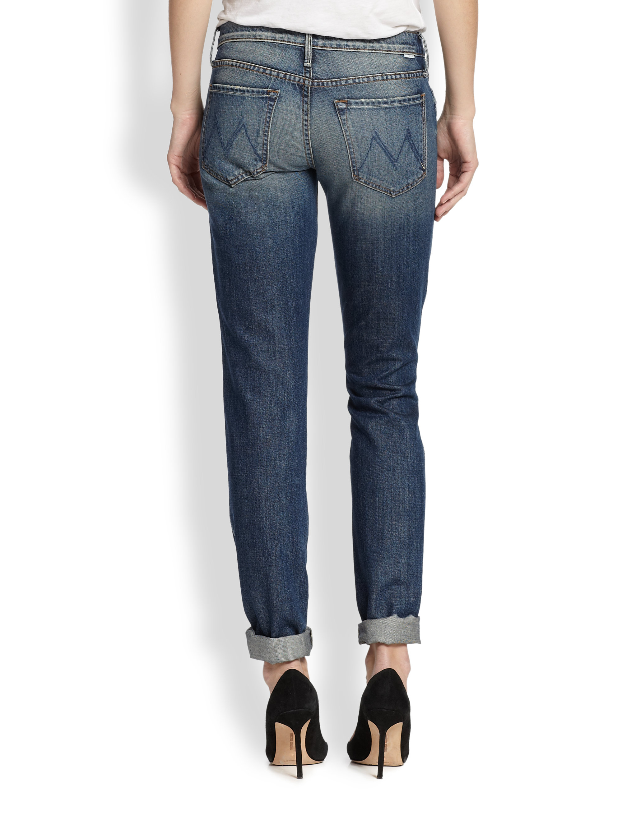 Mother Holy Rascal Straight-Leg Jeans in Blue | Lyst