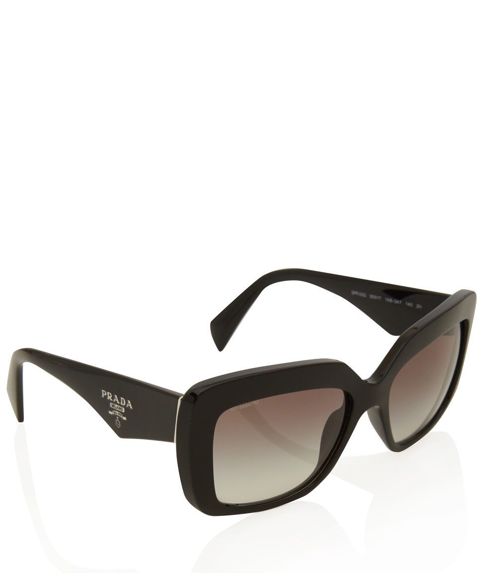 06d88095dc22 Lyst - Prada Black Square Sunglasses in Black