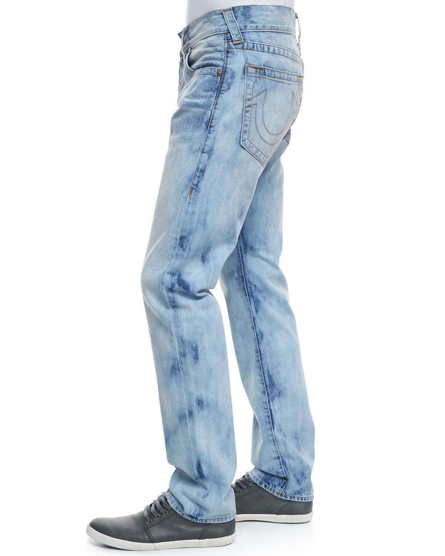 true religion geno bleach light antelope jeans in blue for. Black Bedroom Furniture Sets. Home Design Ideas