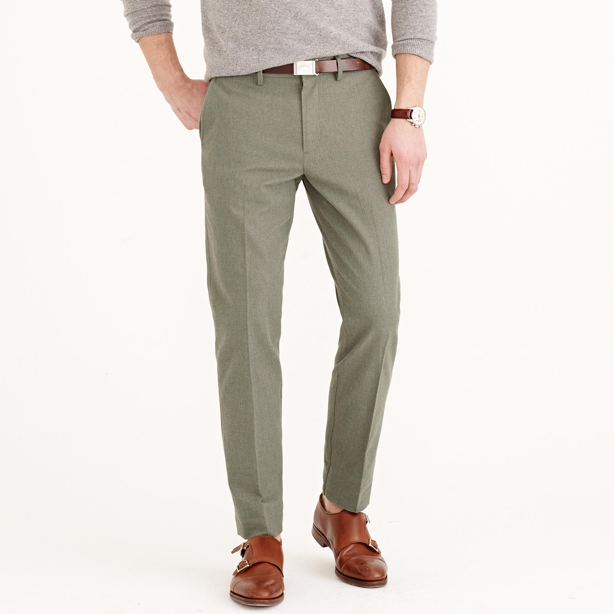 Lyst j crew bowery classic pant in brushed herringbone for J crew mens outfits