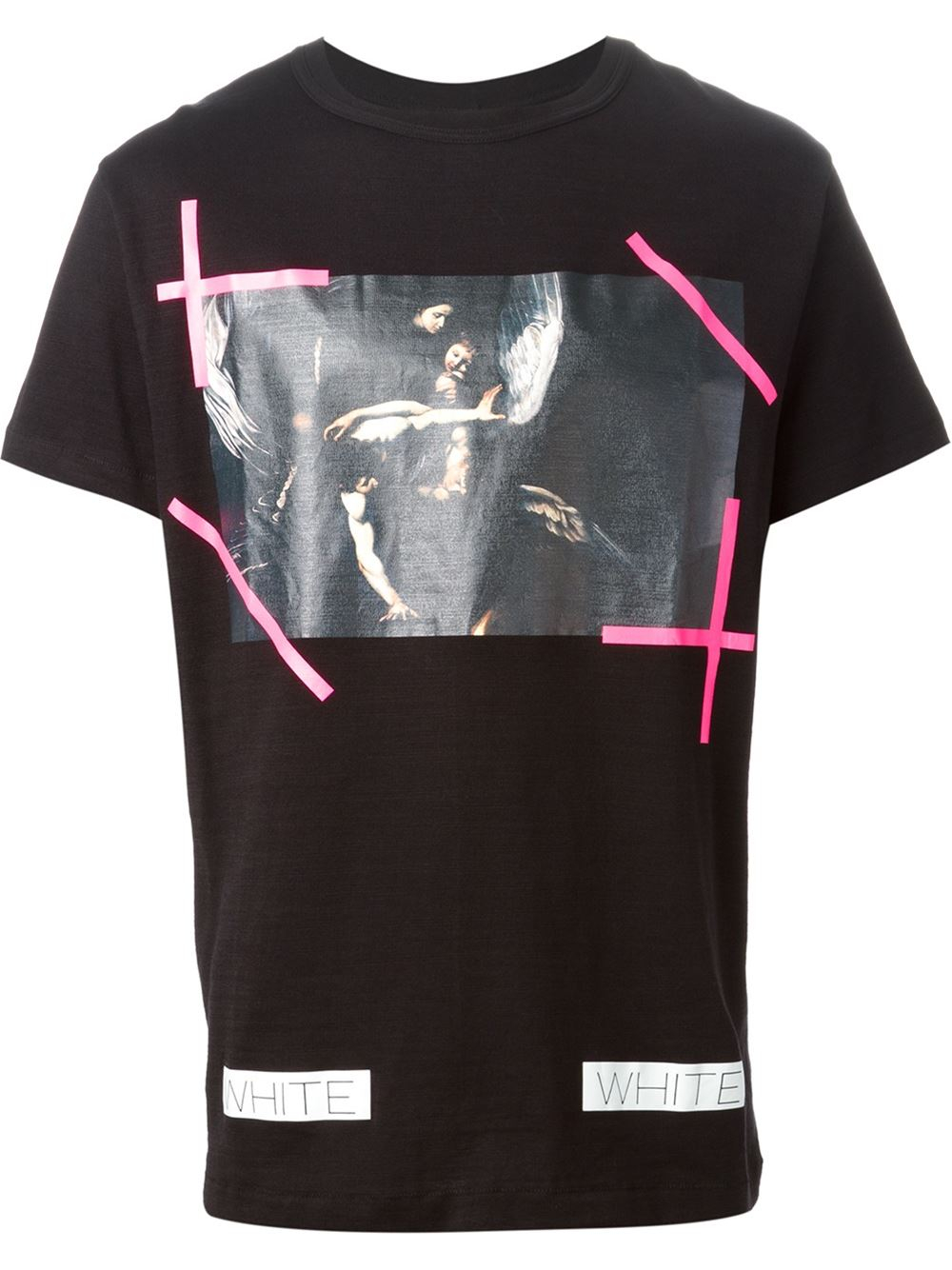 59dcbd0f02a8 Lyst - Off-White c o Virgil Abloh Caravaggio-Print T-Shirt in Black ...