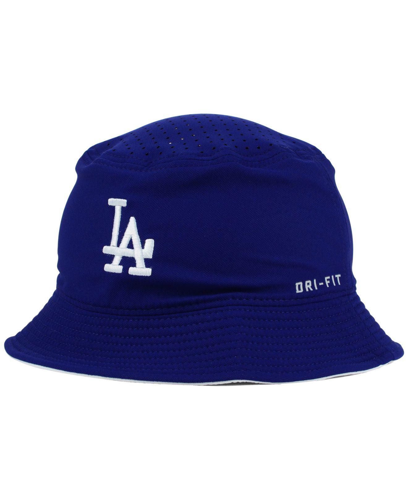 Lyst - Nike Los Angeles Dodgers Vapor Dri-fit Bucket Hat in Blue for Men 546935d0129