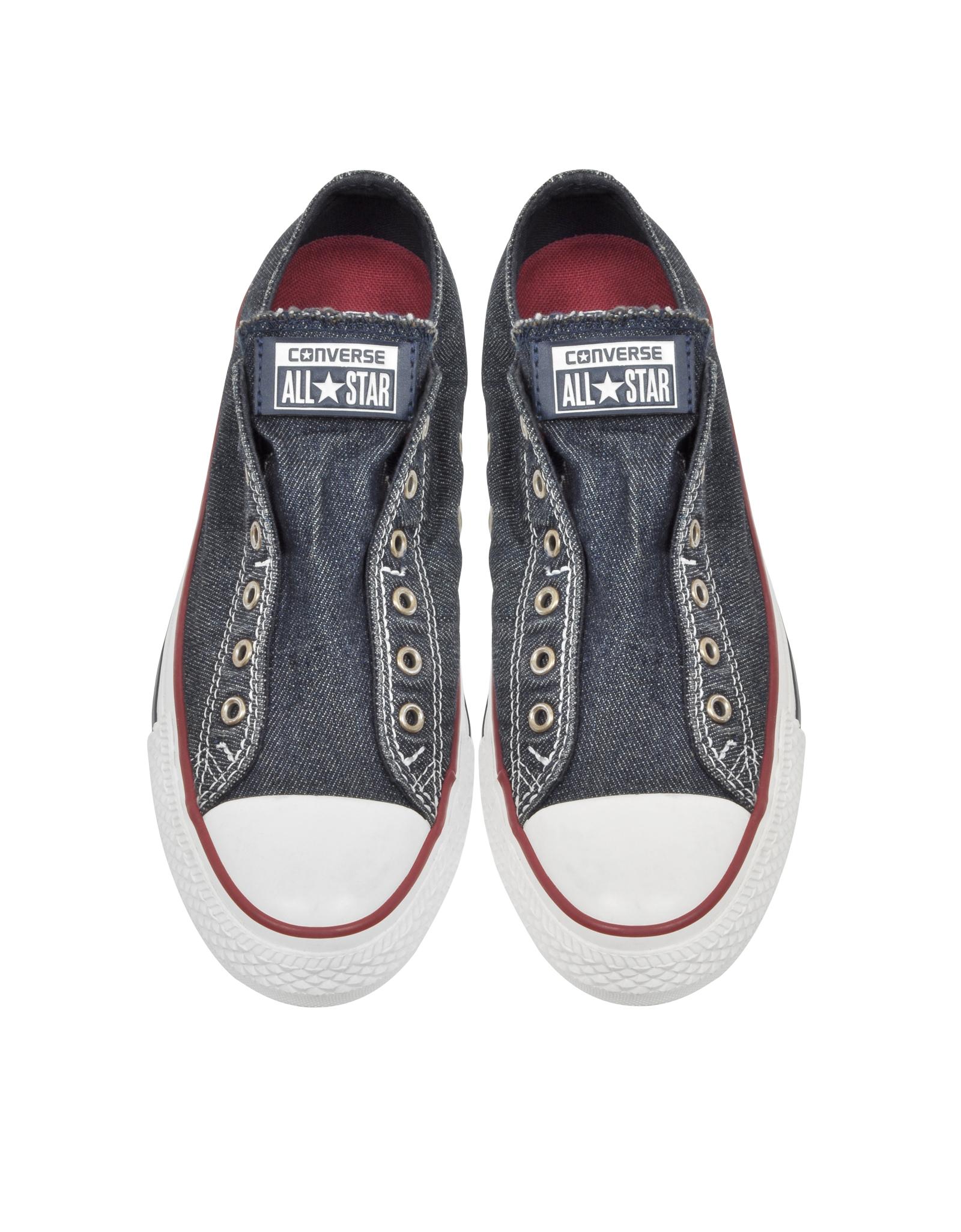 c0414148775a Converse Chuck Taylor All Star Ox Denim Slip On Sneaker in Blue - Lyst