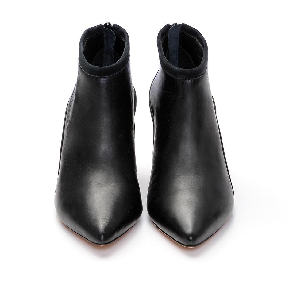 Loeffler randall Reese Kitten Heel Bootie in Black | Lyst
