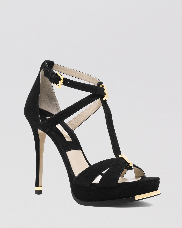 d52ad62b59c8 Lyst - Michael Kors Open Toe Platform Sandals - Leandra High Heel in ...