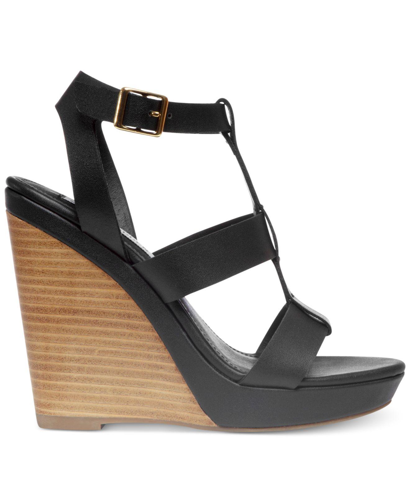 14982c5cb3 Lyst - Steve Madden Womens Iris Platform Wedge Sandals in Black