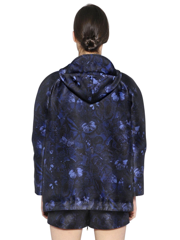 Lyst Valentino Butterfly Print Padded Silk Twill Jacket