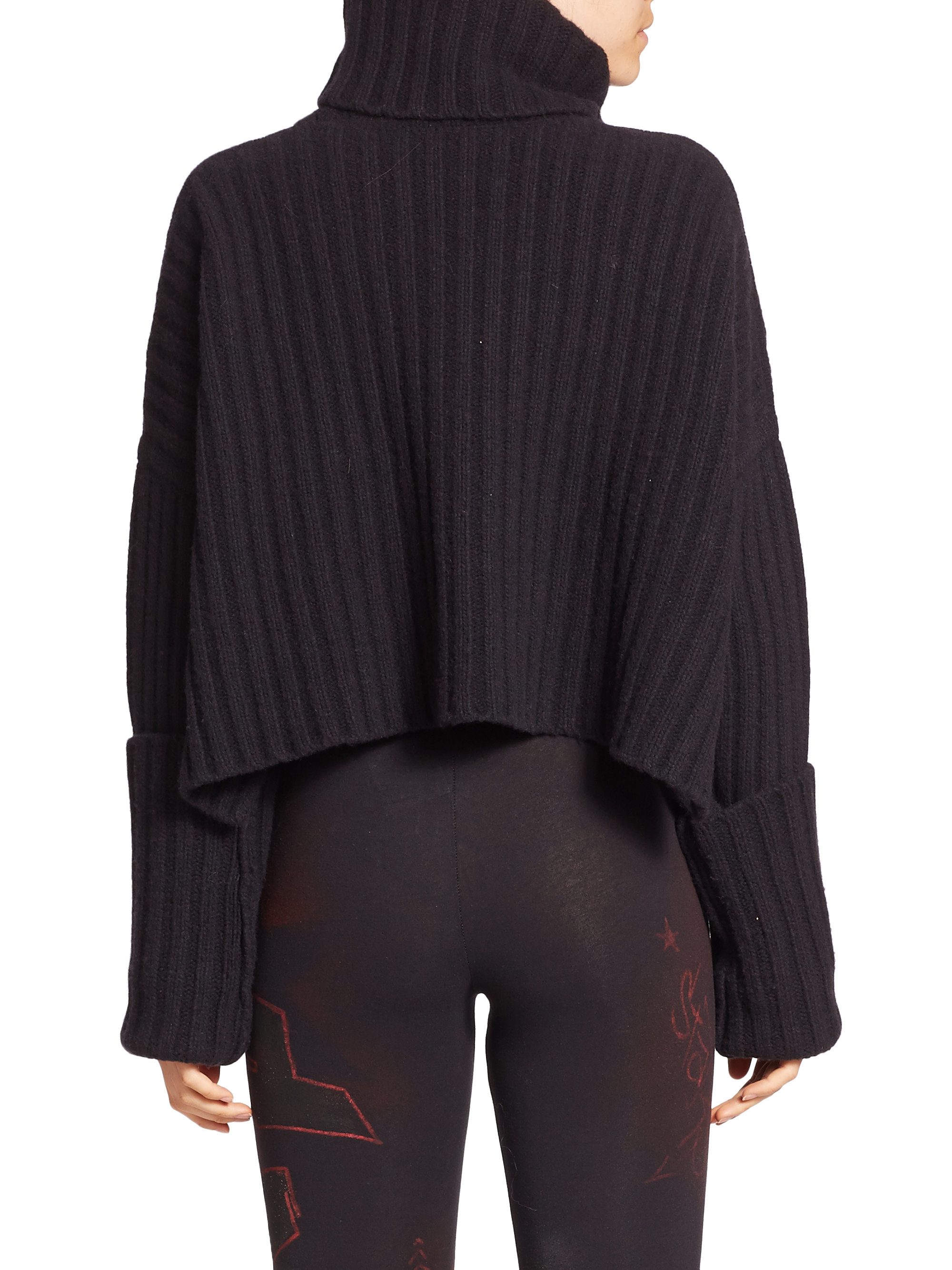 Faith connexion Chunky-rib Wool Turtleneck Sweater in Black | Lyst