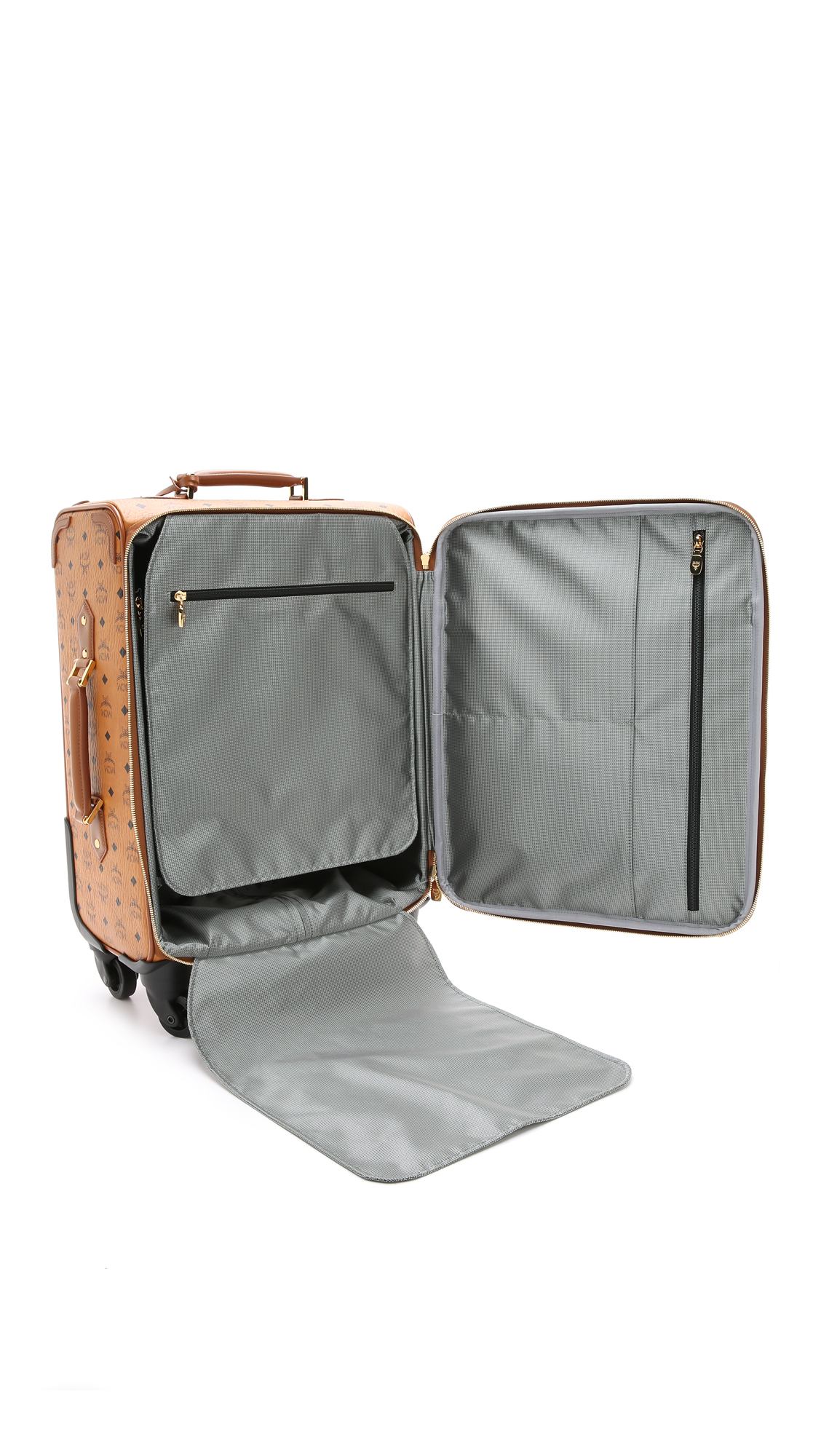 Mcm Trolly Cabin Luggage Case - Cognac in Brown | Lyst