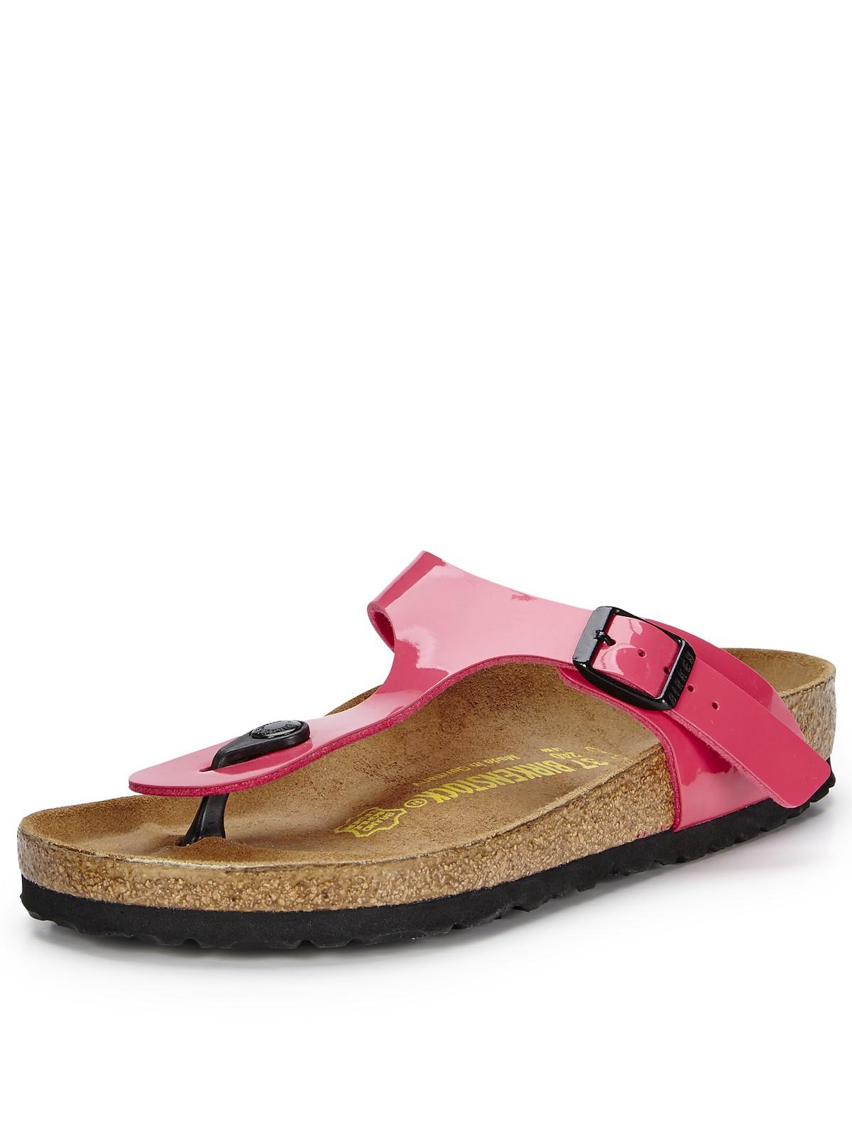 birkenstock gizeh toe post sandals in pink for men pink. Black Bedroom Furniture Sets. Home Design Ideas