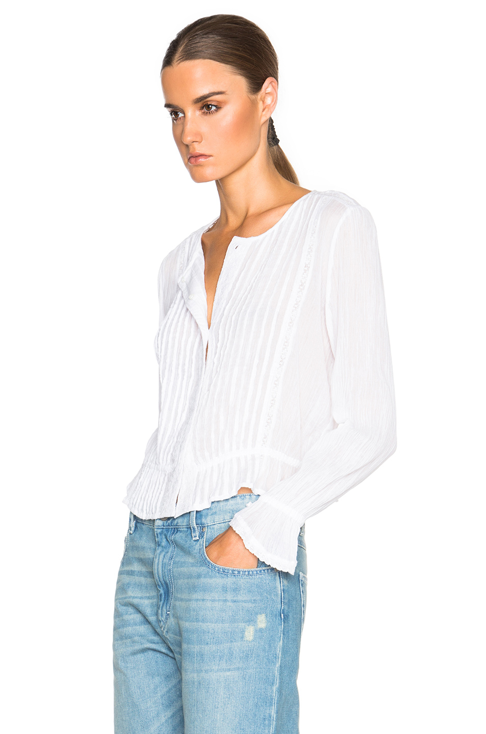 toile isabel marant malo new vintage shirt in white lyst