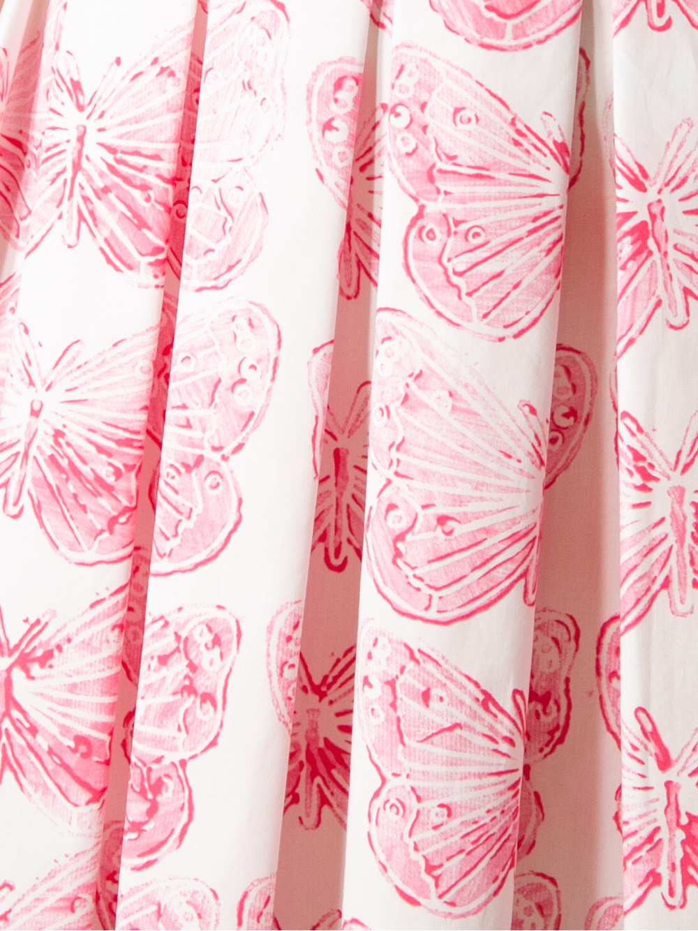 red valentino butterfly print pleated skirt in pink lyst