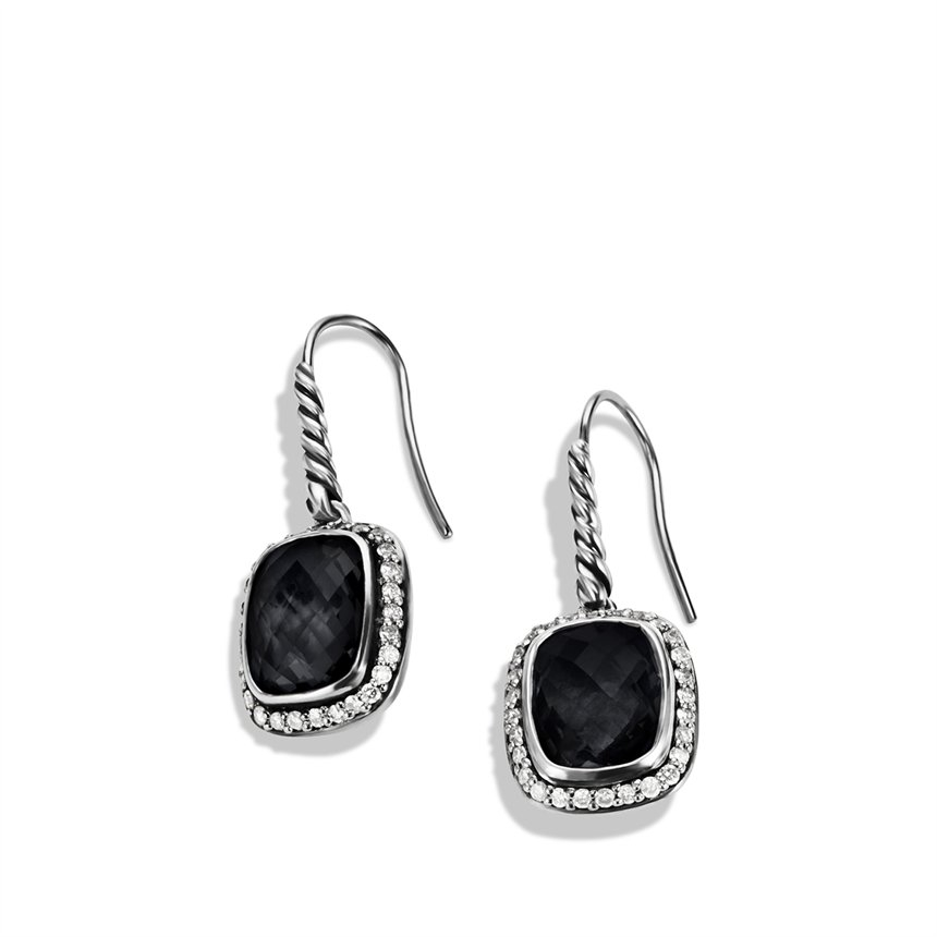David Yurman Noblesse Earrings With Black Onyx And