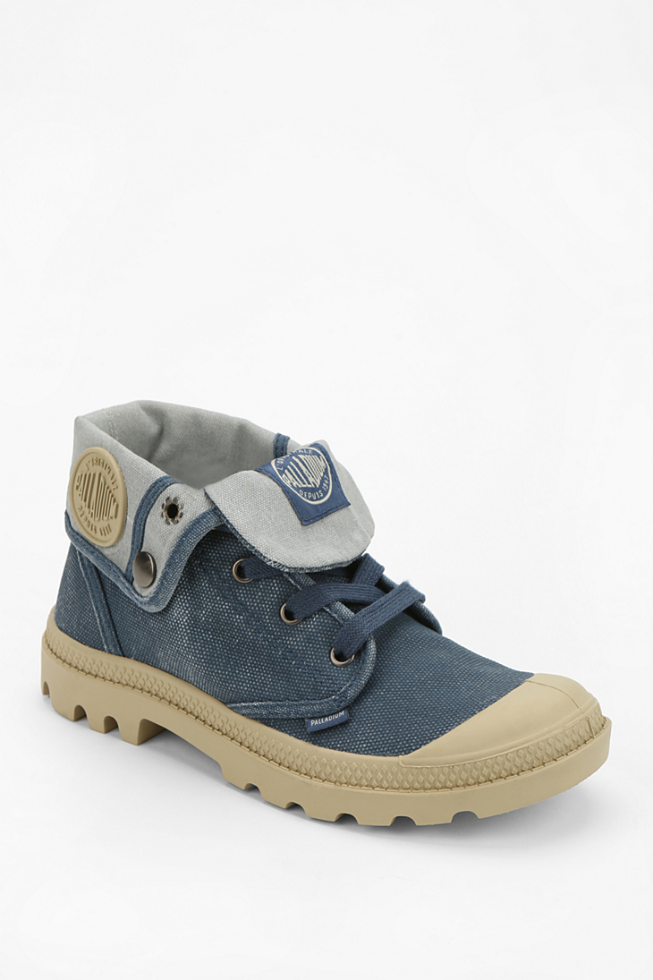 Model Palladium Ankle Boots In Blue Dark Blue  Lyst