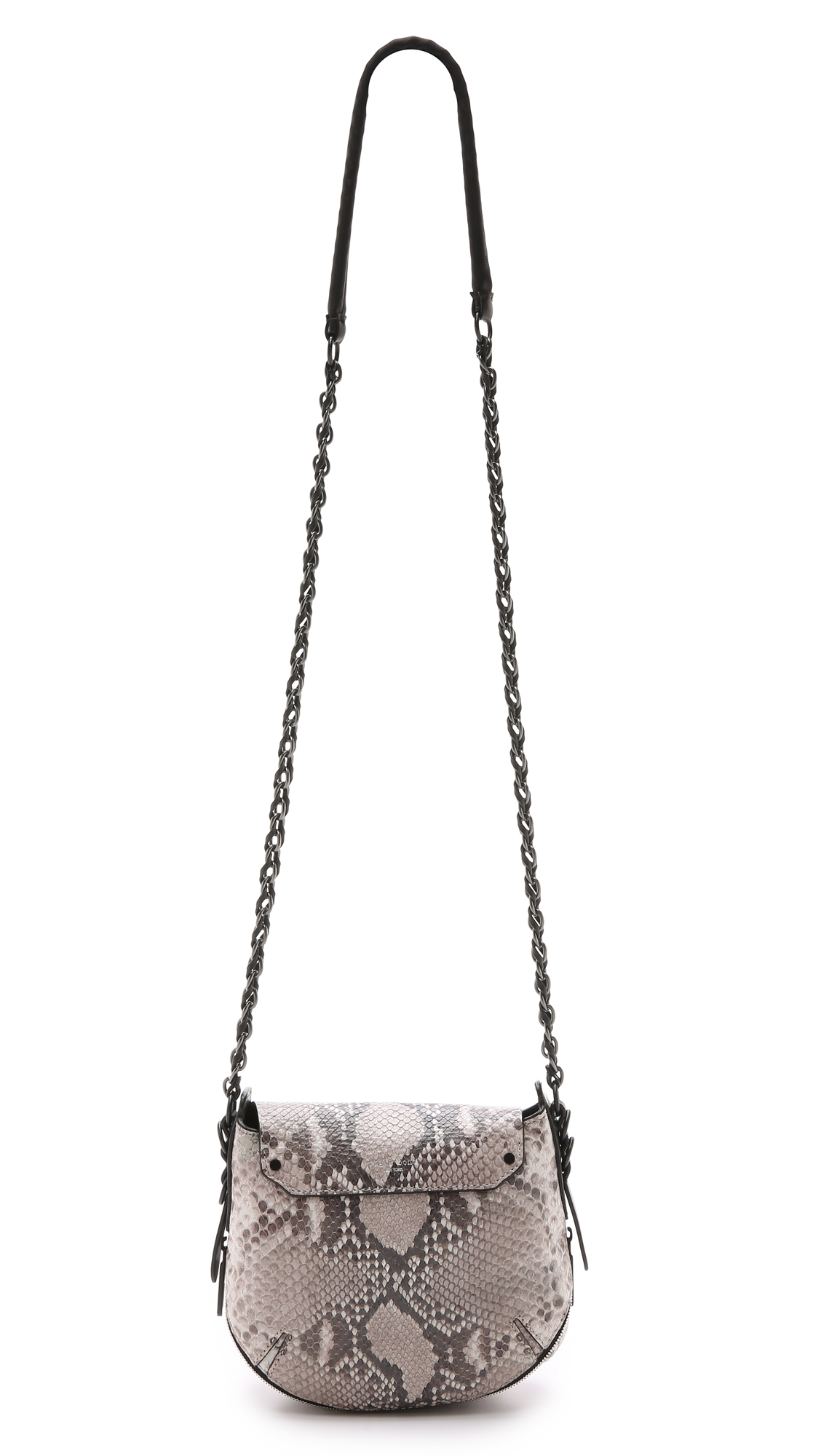 Rag & bone Printed Python Bradbury Mini Chain Hobo Bag - Fawn ...