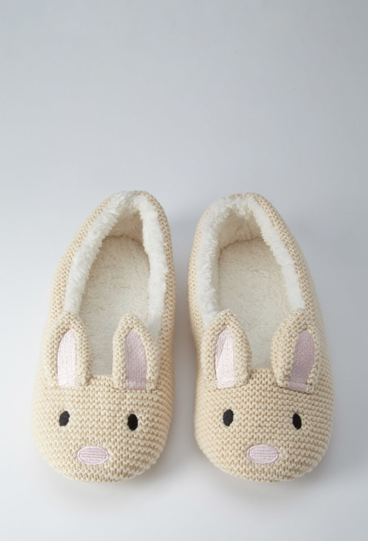 Forever 21 Bunny Slippers In Natural Lyst