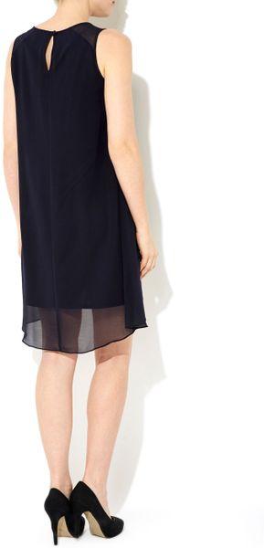 Wallis Embellished Dress In Blue Navy Lyst