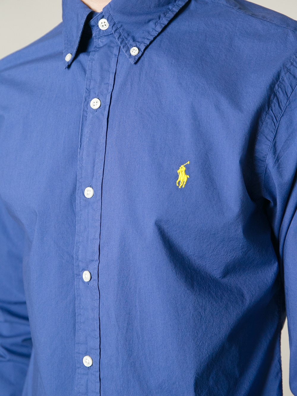 Lyst polo ralph lauren classic casual shirt in blue for men for Polo ralph lauren casual button down shirts