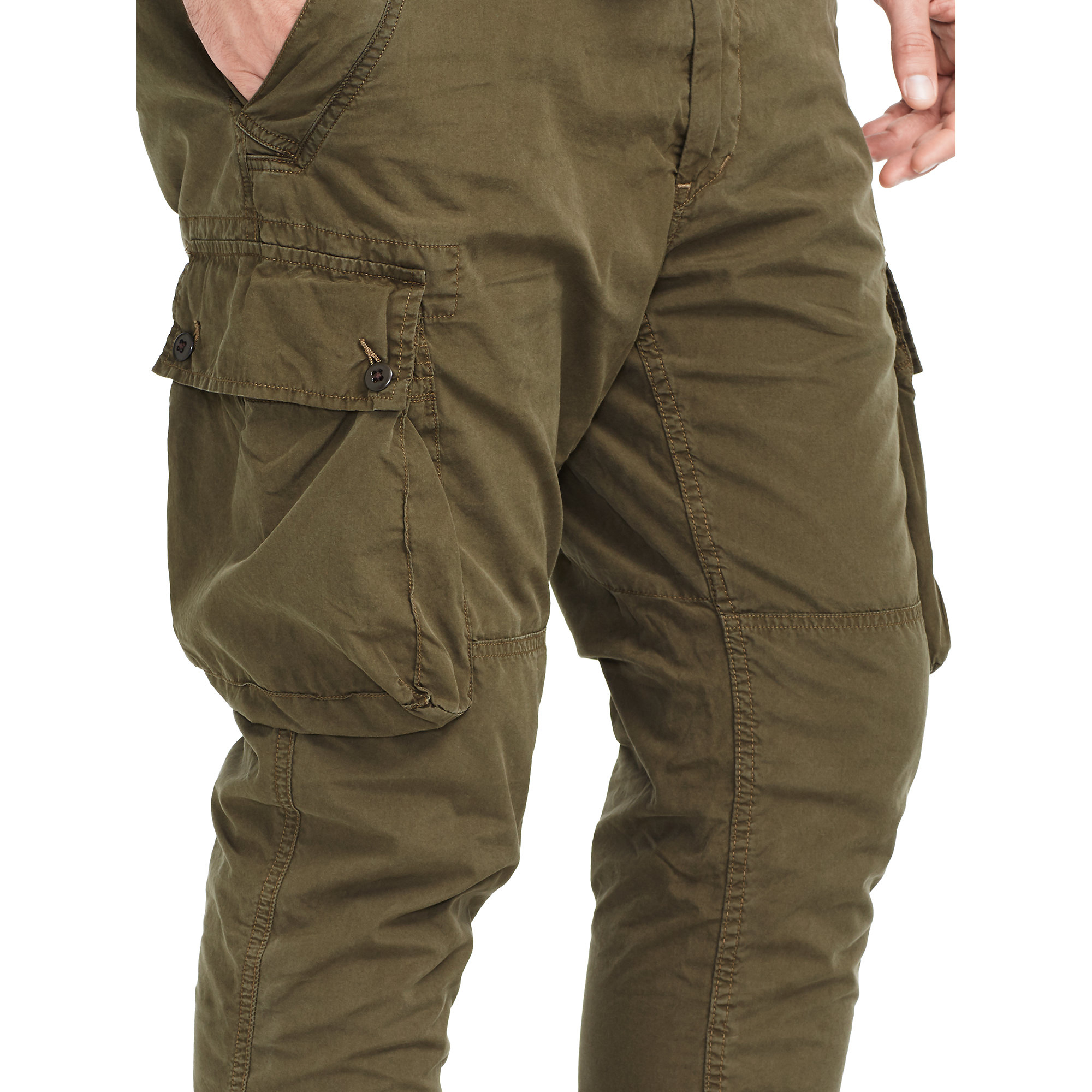 Pink pony Cotton Drawstring Cargo Pant in Natural for Men | Lyst
