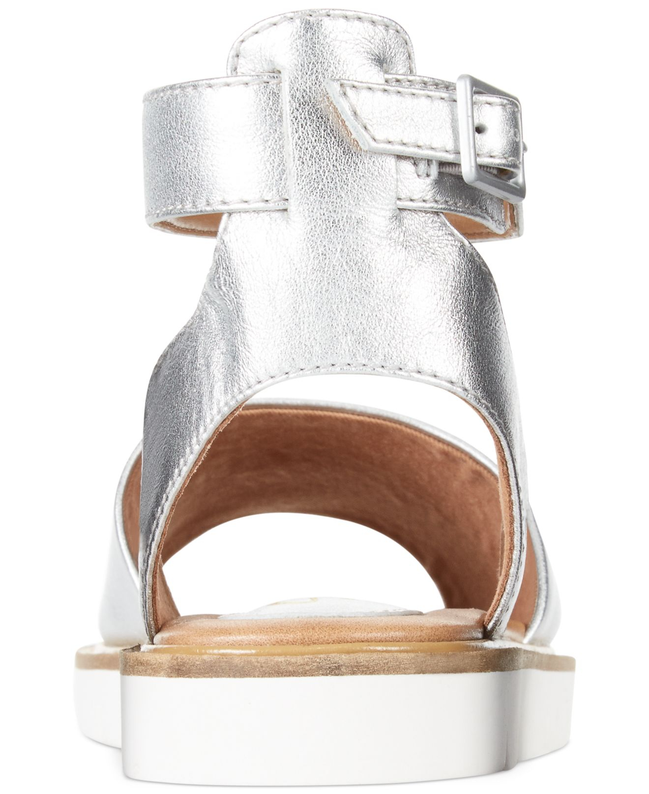 16f86c23f8c1 Lyst - Clarks Artisan Women s Lydie Hala Flat Sandals in Metallic