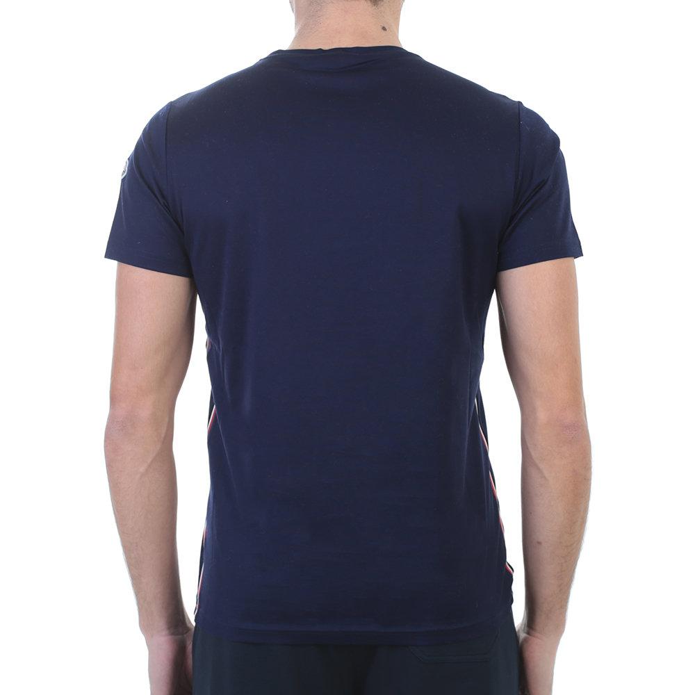 navy blue moncler t shirt