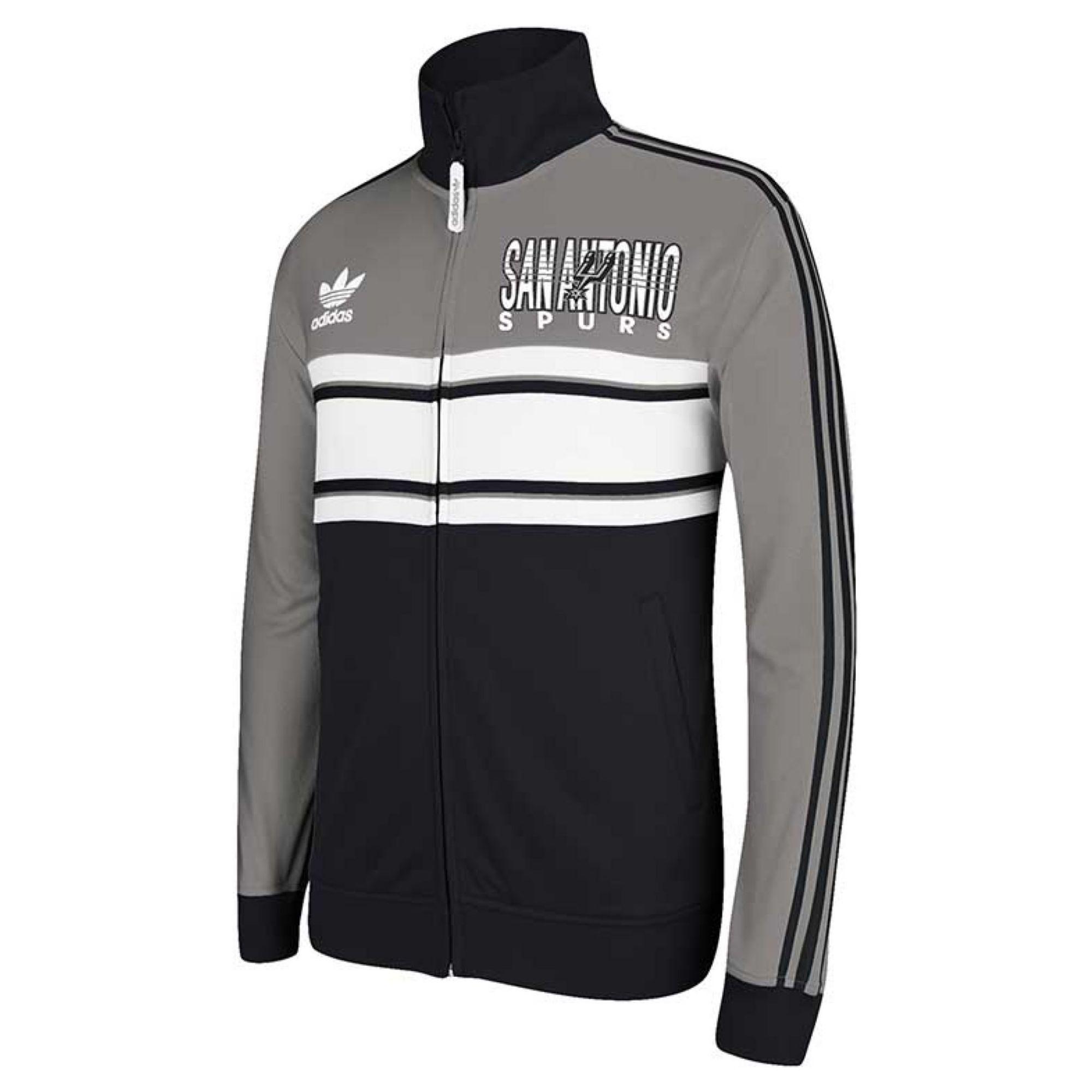 1e6c41cf5 Lyst - adidas Men S San Antonio Spurs Full-Zip Track Jacket in Black ...
